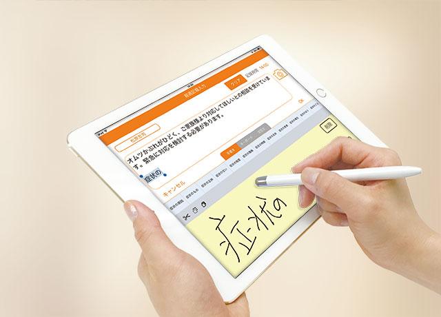 iPadケア記録アプリ