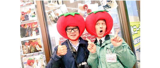 トマト店長こと、駿河屋古川店の牧ヶ野芳男さん